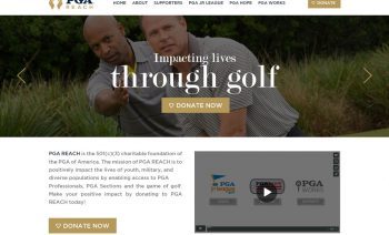 Web Design for Golf, A Charitable Foundation
