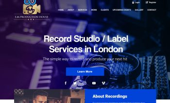 Web Design - Production House/Recording Studio
